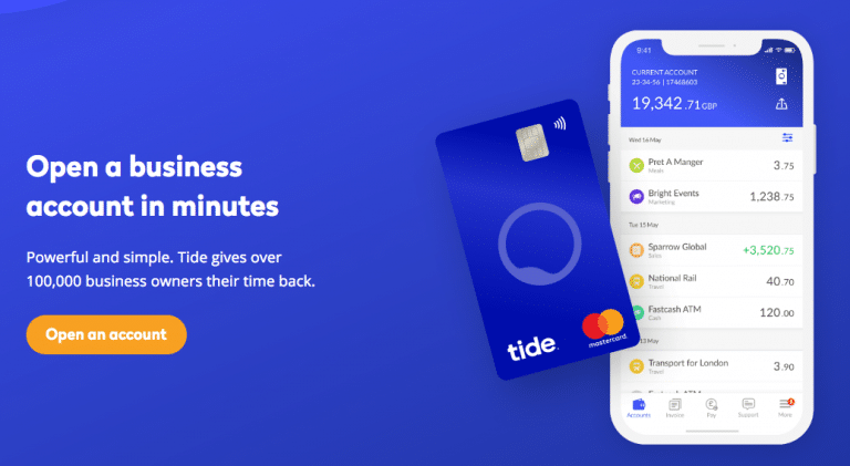 Tide business current account